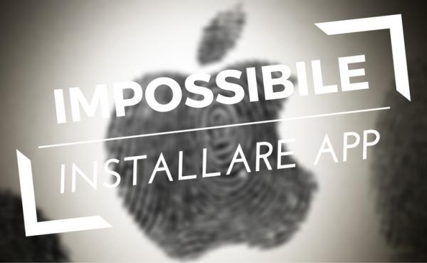 impossibile installare app macos x