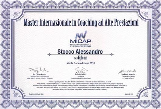 Alessandro Stocco diploma micap