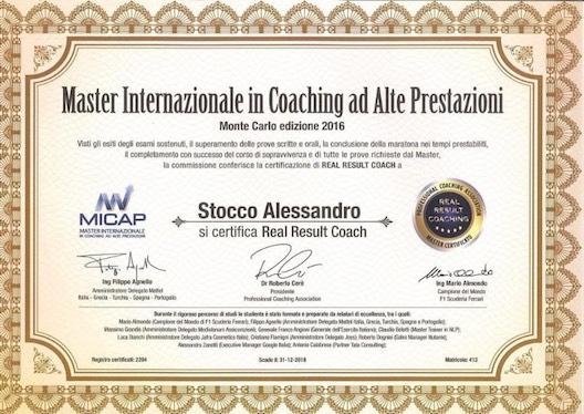 Alessandro Stocco certificazione real result coach