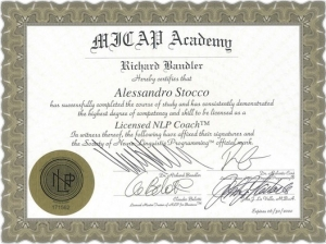 Alessandro Stocco licensed NLP Coach